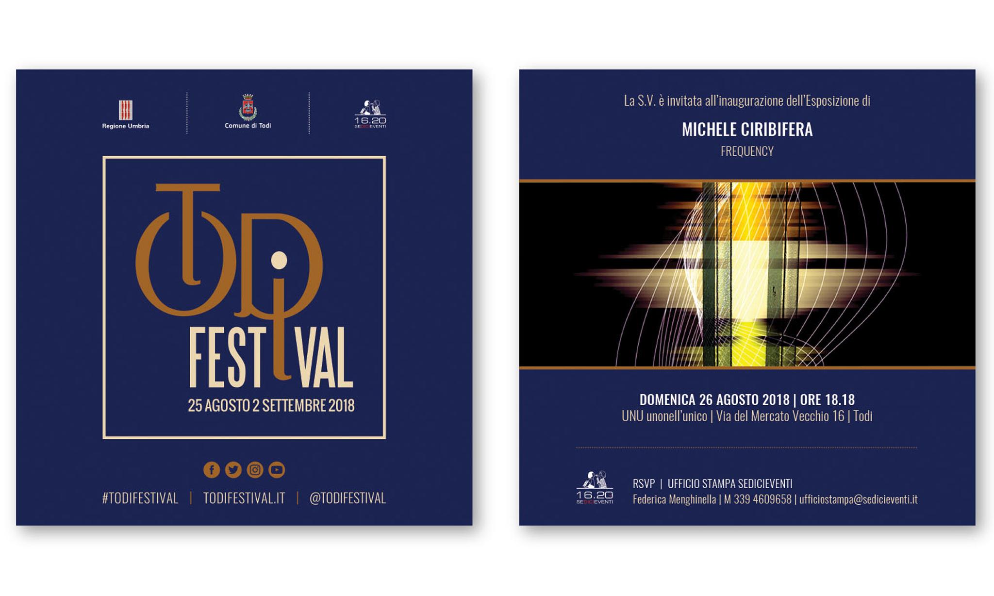 Michele Ciribifera |FREQUENCY |UNU unonell'unico_TODI FESTIVAL 2018
